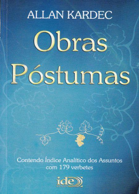 OBRAS PÓSTUMAS - BOLSO AZUL