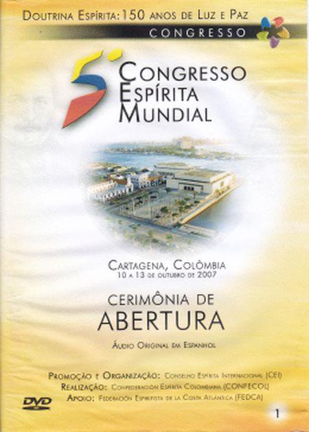 5° CONGRESSO ESPÍRITA MUNDIAL VOL 01 - DVD