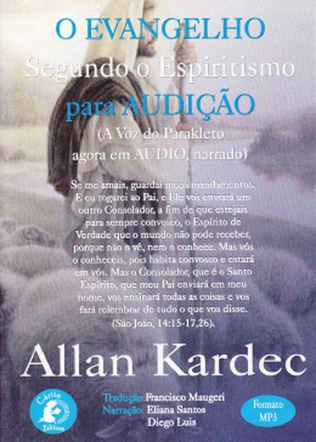 AUDIOBOOK - EVANGELHO SEGUNDO O ESPIRITISMO (O) - MP3 C/ 2 CD´S E 1 DVD)