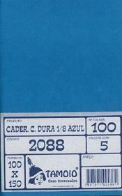 CADERNETA PAUTADA 1/8 CAPA DURA - AZUL - 05/100