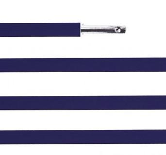 Elástico chato com ponteira 23cm Azul Marinho - 100 unid