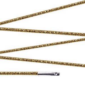 Elástico com ponteira 15cm Dourado - 100 unid