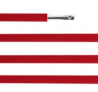 Elástico chato com ponteira 38cm Vermelho - 100 unid