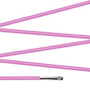 Elástico com ponteira 23cm Rosa - 100 unid