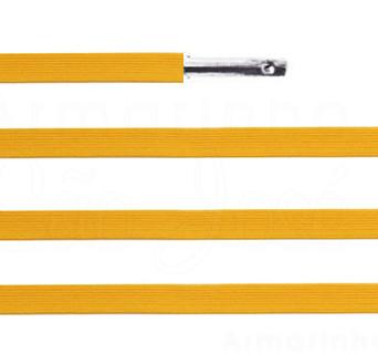Elástico chato com ponteira 38cm Amarelo Ouro - 100 unid