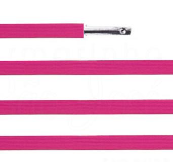 Elástico chato com ponteira 38cm Pink - 100 unid