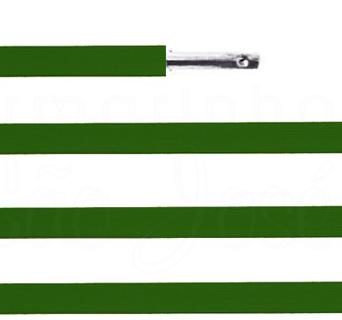 Elástico chato com ponteira 38cm Verde Bandeira - 100 unid