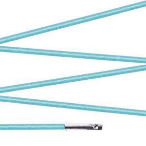 Elástico com ponteira 23cm Azul Bebê - 100 unid