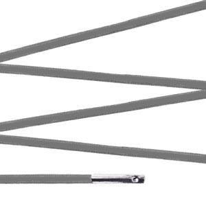 Elástico com ponteira 38cm Cinza - 100 unid
