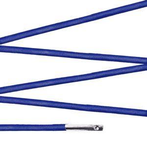 Elástico com ponteira 23cm Azul Royal - 100 unid