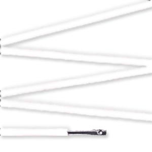 Elástico com ponteira 48cm Branco - 100 unid