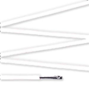 Elástico com ponteira 38cm Branco - 100 unid