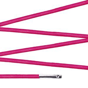Elástico com ponteira 15cm Pink - 100 unid
