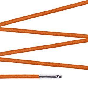 Elástico com ponteira 38cm Laranja - 100 unid