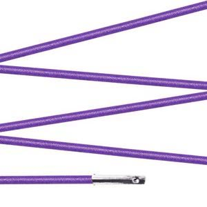 Elástico com ponteira 15cm Lilás - 100 unid