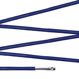 Elástico com ponteira 15cm Azul marinho - 100 unid