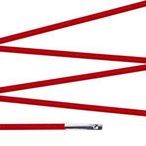 Elástico com ponteira 15cm Vermelho - 100 unid
