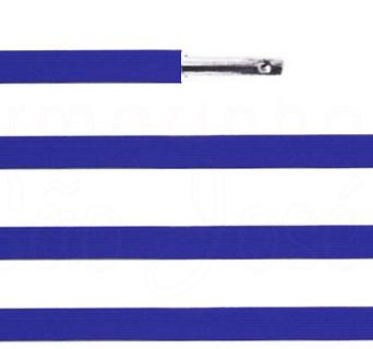 Elástico chato com ponteira 15cm Azul royal - 100 unid