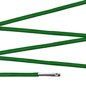 Elástico com ponteira 15cm Verde - 100 unid