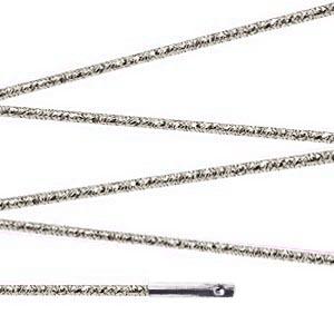 Elástico com ponteira 15cm Prata - 100 unid