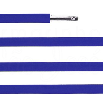 Elástico chato com ponteira 38cm Azul royal - 100 unid